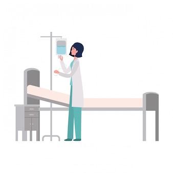 Illustrazione isolata del medico della donna