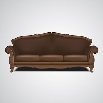 Illustrazione isolata mobilia antica del sofà