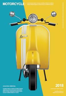 Illustrazione isolata motociclo d'annata