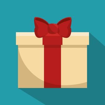 Illustrazione isolata presente del contenitore di regalo