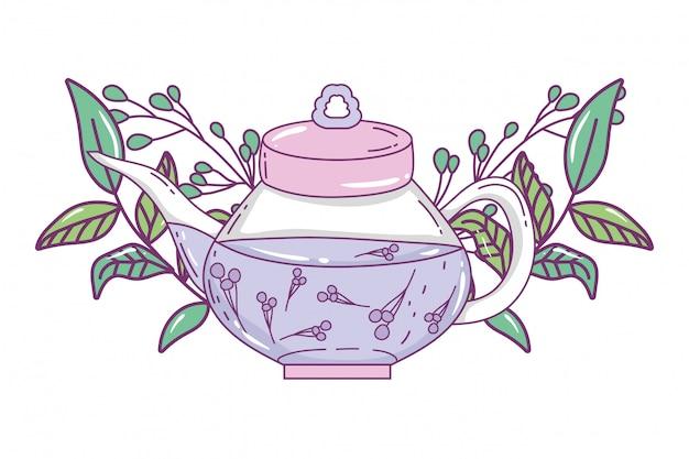 Illustrazione isolata teiera