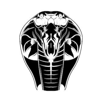 Illustrazione isolata vettore capo della cobra