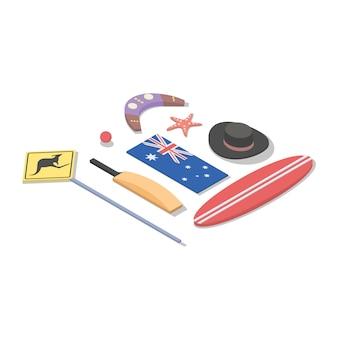 Illustrazione isometrica dell'australia