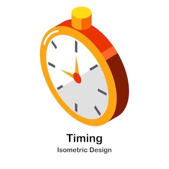 Illustrazione isometrica di temporizzazione