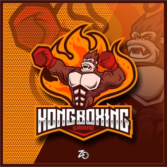 Illustrazione kingkong boxing gaming