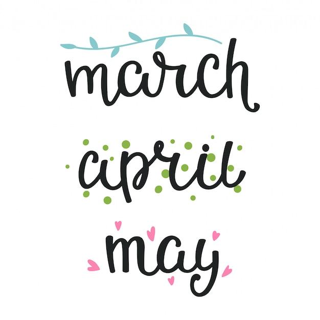 Illustrazione, lettering primavera