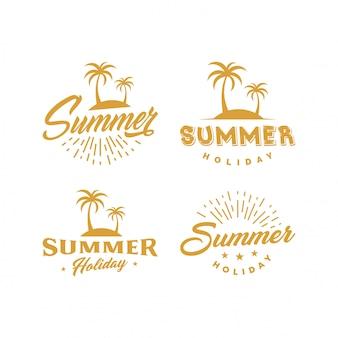 Illustrazione logo estate