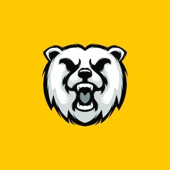 Illustrazione logo orso