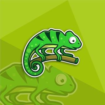 Illustrazione logo premium su un ramo