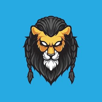 Illustrazione logo testa di leone