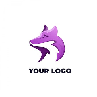 Illustrazione logo testa di lupo