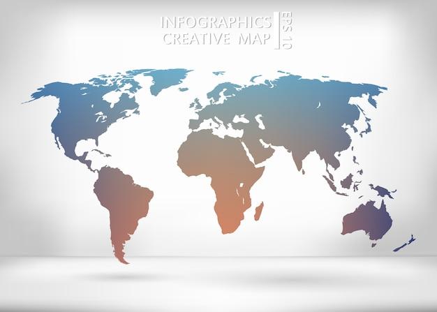 Illustrazione mappa del mondo.