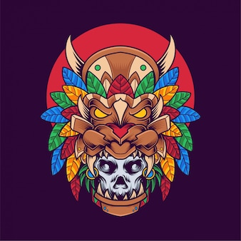 Illustrazione maschera teschio