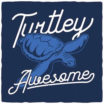 Illustrazione meravigliosa di tartaruga