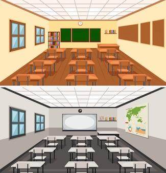 Illustrazione moderna aula