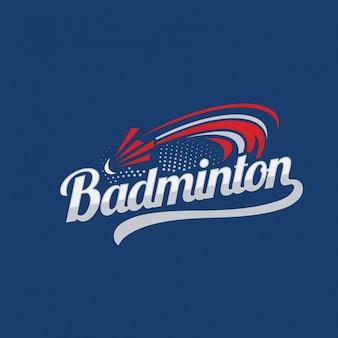 Illustrazione moderna di logo del distintivo di badminton