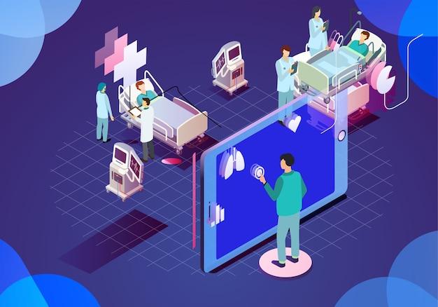 Illustrazione moderna tecnologia medica