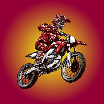 Illustrazione motocross