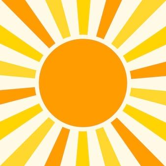 Illustrazione naturale di vettore del fondo soleggiato