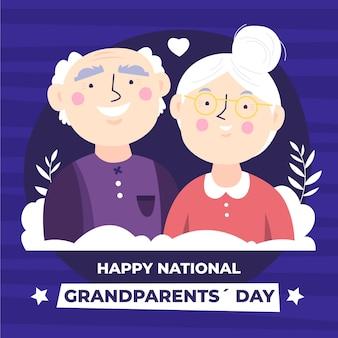 Illustrazione nazionale di giorno dei nonni