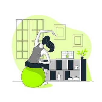 Illustrazione online di concetto dell'istruttore personale