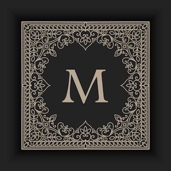 Illustrazione ornamentale astratta del monogramma