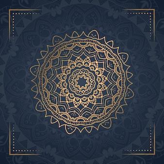 Illustrazione ornamentale di lusso mandala ornamentale