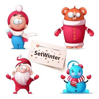 Illustrazione orso inverno