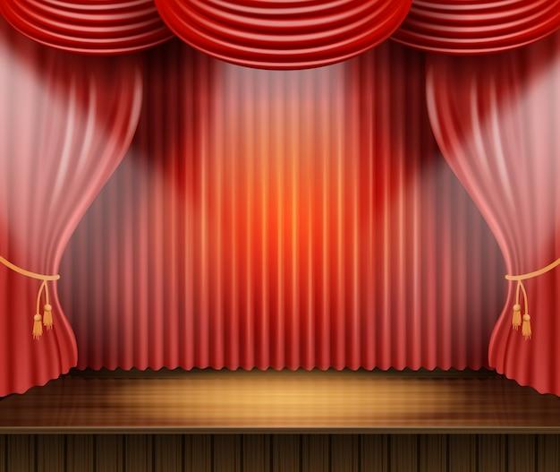 Illustrazione palatale di vettore di scena del teatro del manifesto.