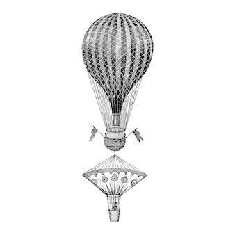 Illustrazione palloncino d'epoca