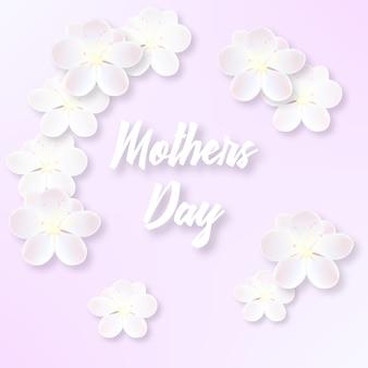Illustrazione per la festa della mamma con delicati fiori di sakura