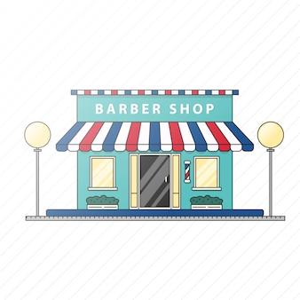 Illustrazione piana del negozio di barbiere