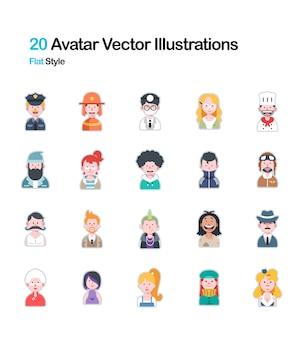 Illustrazione piana dell'avatar della gente