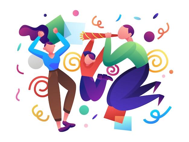 Illustrazione piatta di partito