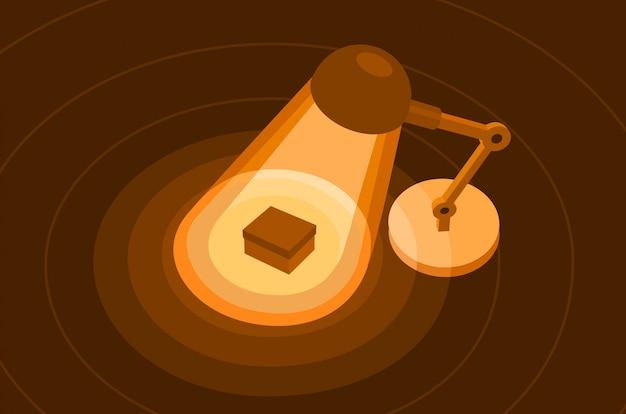 Illustrazione piatta lampada da tavolo