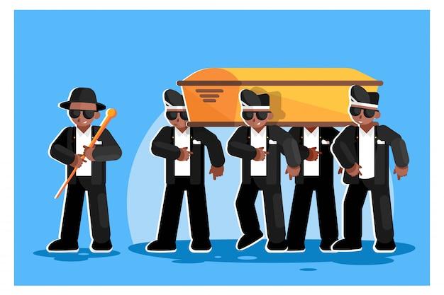 Illustrazione piatta meme danza della morte