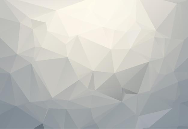 Illustrazione poligonale grigio bianco, che consistono in triangoli. sfondo geometrico in stile origami con sfumatura. design triangolare per il tuo business.