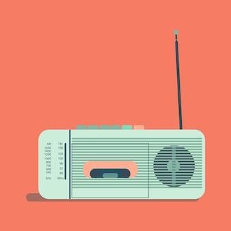 Illustrazione: radio retrò. illustrazione per la giornata radiofonica internazionale