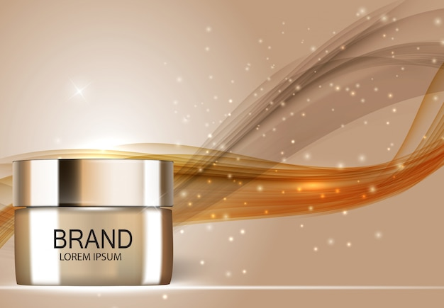 Illustrazione realistica 3d del prodotto di cosmetici di progettazione