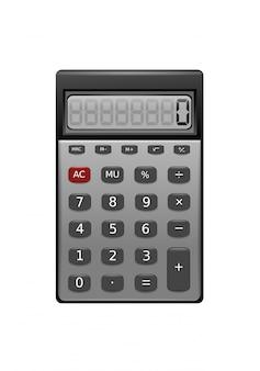 Illustrazione realistica calcolatrice isolata