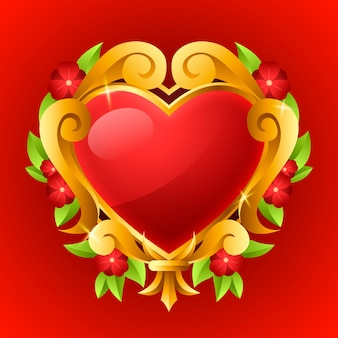 Illustrazione realistica del cuore sacro