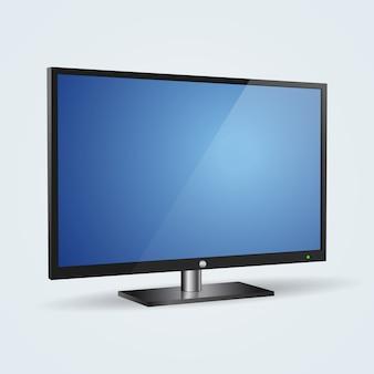 Illustrazione realistica del monitor da tavolino