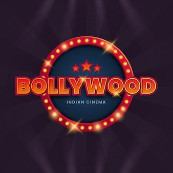 Illustrazione realistica del segno del cinema di bollywood