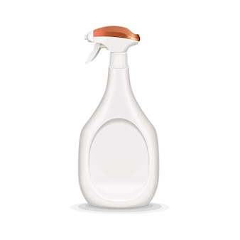 Illustrazione realistica della bottiglia dello spruzzo