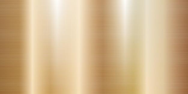 Illustrazione realistica della grande insegna di struttura del metallo dell'oro di rosa