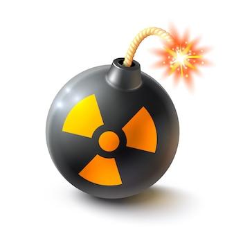 Illustrazione realistica di bomba