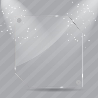 Illustrazione realistica di cornici di vetro