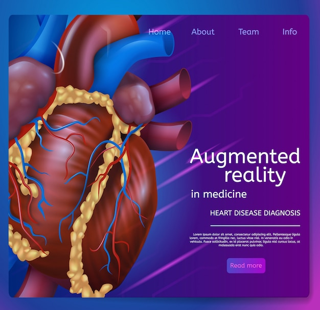 Illustrazione realtà aumentata in medicina