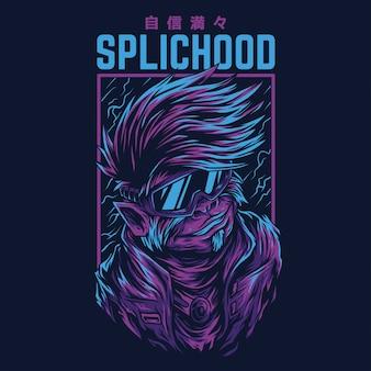 Illustrazione rimasterizzata di splichood