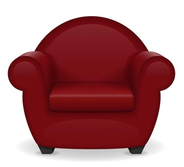 Illustrazione rossa di vettore della mobilia della poltrona